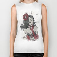 "burlesque Biker Tanks featuring BURLESQUE by ""dfrnt"""