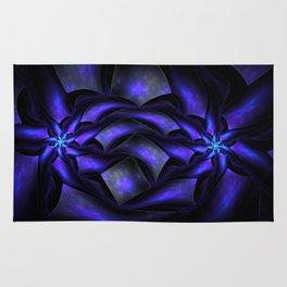Surreal flowers fractal Rug