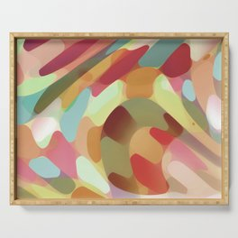 Multi Colored Terrazzo Abstract Serving Tray