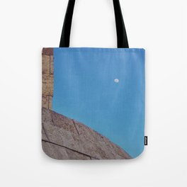 Angled Moon Tote Bag