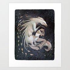 Wolf Sleep Art Print