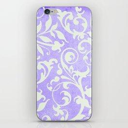 Shabby Chic purple damask iPhone Skin