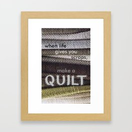 Quilters Framed Art Print