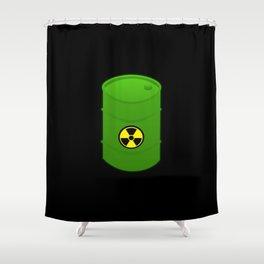 atomic waste barrel Shower Curtain