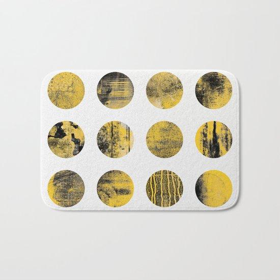 Black & Yellow Bath Mat