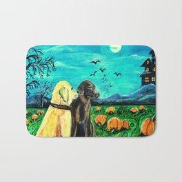 Dogs in Pumpkin Patch Bath Mat