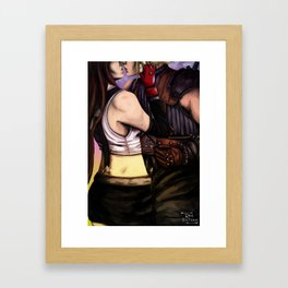 words aren't the only way Framed Art Print