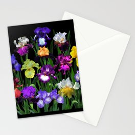 Iris Garden - on black Stationery Cards