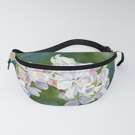 Apple Blossoms with Blue Green Backlground Fanny Pack