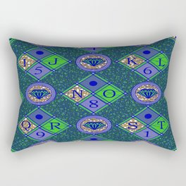 african fabric number alphabeth diamond Rectangular Pillow