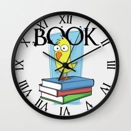 Book (black txt) Wall Clock