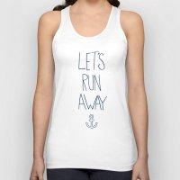 hawaii Tank Tops featuring Let's Run Away: Sandy Beach, Hawaii by Leah Flores