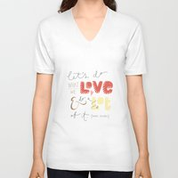 marc johns V-neck T-shirts featuring marc jacobs quote by Mandie Kuo