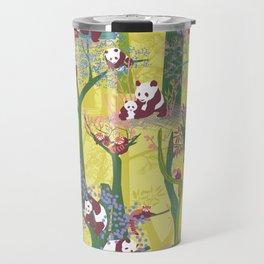 Both Species of Panda - Yellow Travel Mug