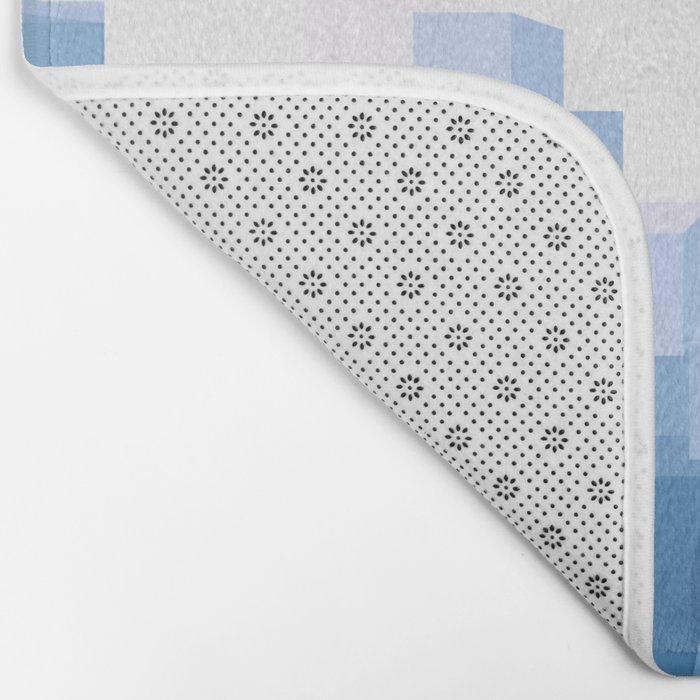 Blue 3D Bath Mat