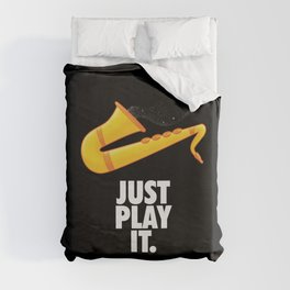 Just Play It Duvet Cover