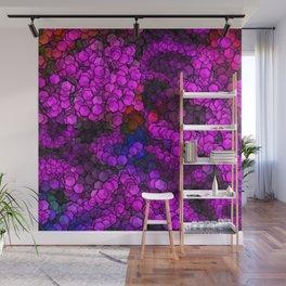 Artistic Cubes 02 hot pink Wall Mural