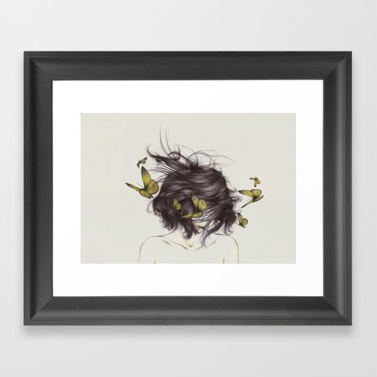 Hair III Framed Art Print