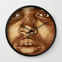 ali Wall Clocks featuring ALI by noblackcolor