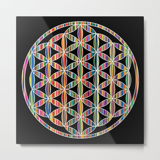 Flower of Life Colored | Kids Room | Delight Metal Print