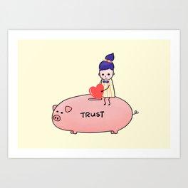 Piggy Bank of Trust Art Print