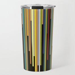 Night's End - Abstract, Geometric Color Stripes Travel Mug