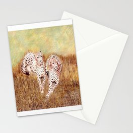 Resting Cheetahs Stationery Cards