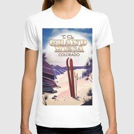 Grand Mesa ski travel poster T-shirt