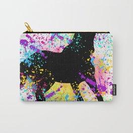 Black Horse Paint Splatter Carry-All Pouch