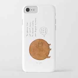 the spherical bear iPhone Case