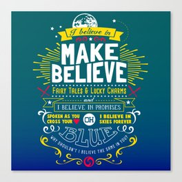 Gamer Geek Chic Earthbound Mother Inspired I Believe in You! Canvas Print