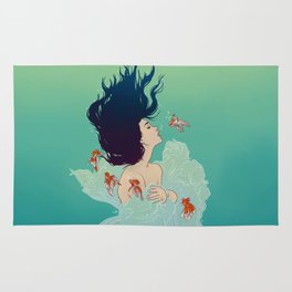 Underwater Lady Rug