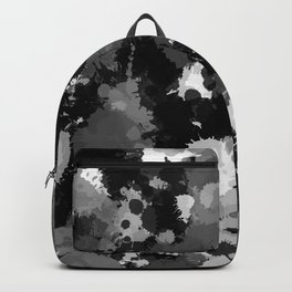 Black White and Grey Paint Splatter Backpack