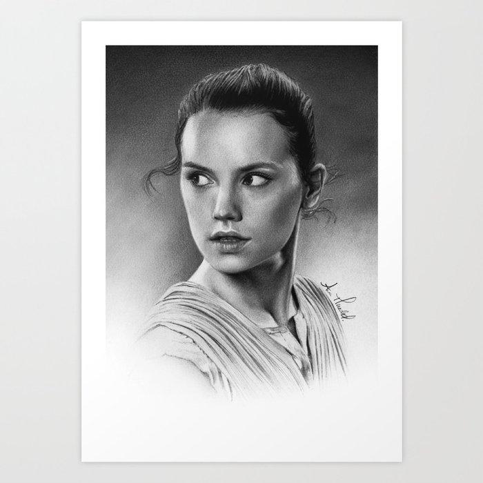 Rey - Daisy Ridley Kunstdrucke