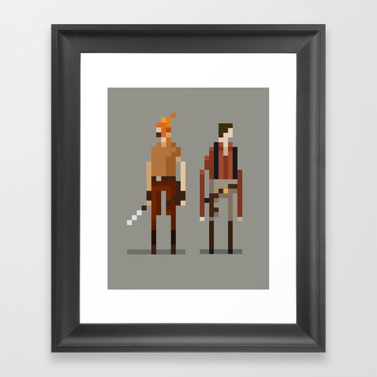 Brains and Brawn Framed Art Print
