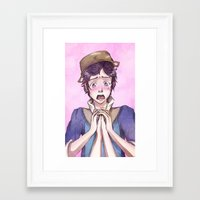 fire emblem Framed Art Prints featuring Donnel - Fire Emblem Confession by Audienta