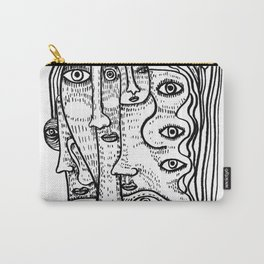 lady of Many Faces Carry-All Pouch