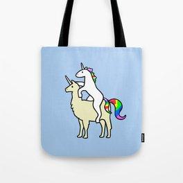 Unicorn Riding Llamacorn Tote Bag