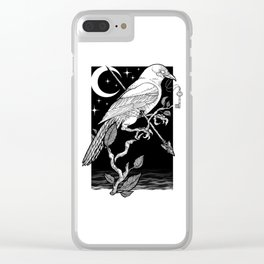 Night Crow Clear iPhone Case