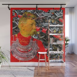 THE INVENTOR, IN RED II Wall Mural