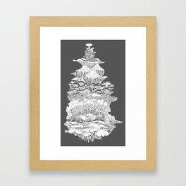 Mushies on the rise Framed Art Print