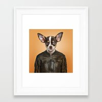 chihuahua Framed Art Prints featuring Chihuahua  by Life on White Creative