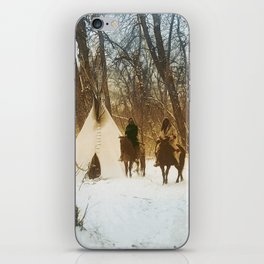 The winter camp - Crow (Apsaroke) Indians iPhone Skin