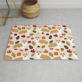 Corgi Autumn Fall woodland pillow phone case cute corgi design corgi dog pattern corgis love Rug