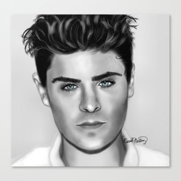 Zan Efron with Blue eyes Canvas Print
