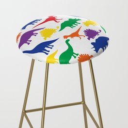 Dinosaurs - White Bar Stool