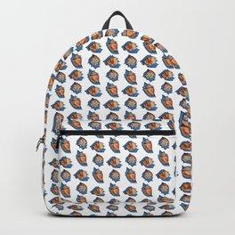 Seashell pattern in white Backpack