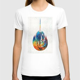 Colorful Horseshoe Crab Art by Sharon Cummings T-shirt