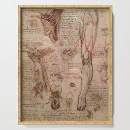 Anatomical Sketches - Leonardo Da Vinci Serving Tray