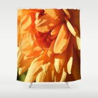 vermont Shower Curtains featuring Vermont Autumn Golden Flower by Vermont Greetings